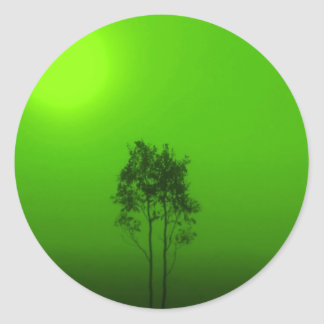 Green Trees Stickers