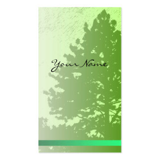 Green Trees Vertical Profile Card Pack Of Standard Business Cards