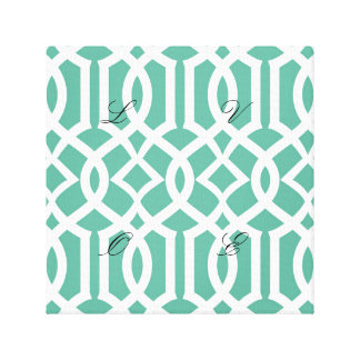 Green, trellis,moroccan,pattern,trendy,girly,fun, canvas print