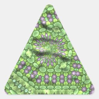 Green trendy cool art triangle sticker