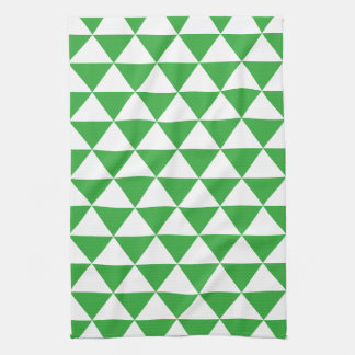 Green Triangle Pattern Kitchen Towels