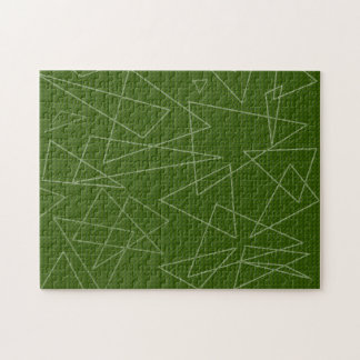 Green Triangles Jigsaw Puzzle