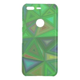 Green Triangles Uncommon Google Pixel Case