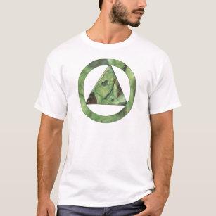 Green Triangular Rock Inside of a Circle T-Shirt