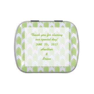 Green Tribal Arrows Wedding Candy Tin