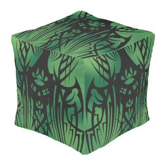 Green Tribal Cube Bean Bags! Pouf