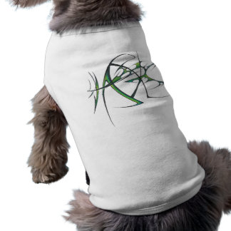 Green tribal dog shirt