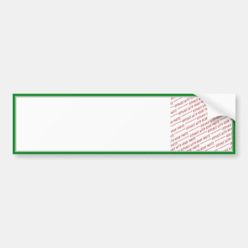 Green Trimmed Border Template Bumper Stickers