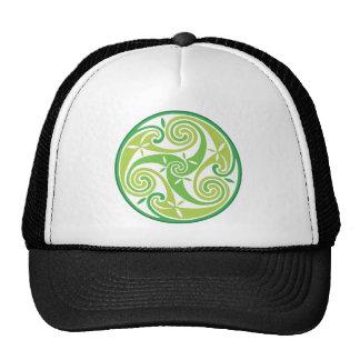 Green triskel cap