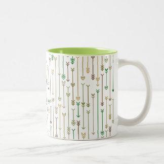 Green Troop Two-Tone Coffee Mug