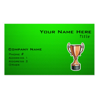 Green Trophy Business Card