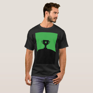 Green Trophy Cup Star Winner Art Modern T-Shirt
