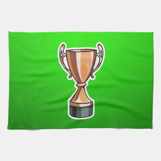 Green Trophy Hand Towels