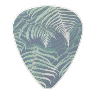 Green Tropical Fern Leaves Natural Pattern Polycarbonate Guitar Pick