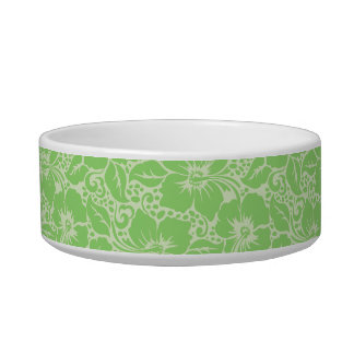Green tropical floral bowl