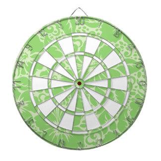 Green tropical floral dartboard
