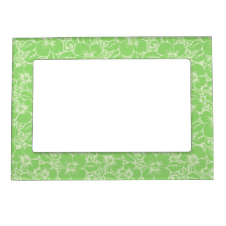 Green tropical floral magnetic frame
