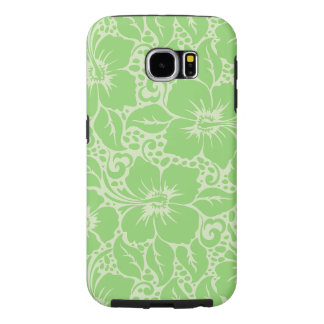 Green tropical floral samsung galaxy s6 cases