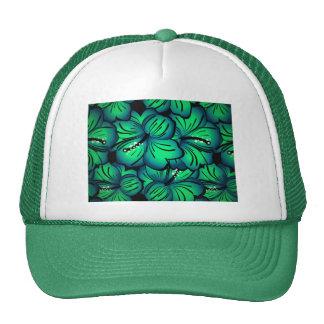 Green Tropical Hibiscus Flower design Hat