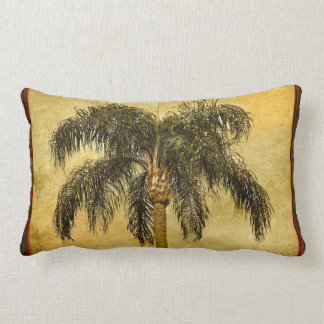 Green Tropical Palm Tree Hawaiian Vintage Palms Lumbar Pillow