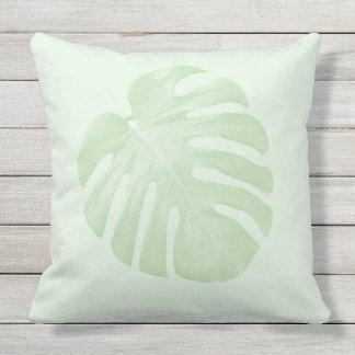 Green Tropical Pillow