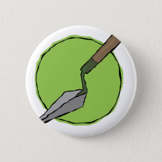 Green Trowel - Archaeologist's Toolkit 6 Cm Round Badge