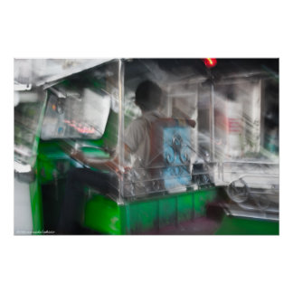 Green Tuk-Tuk photo print