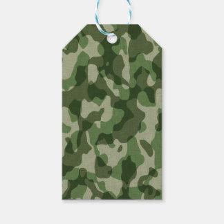 Green Tundra Camo Gift Tags