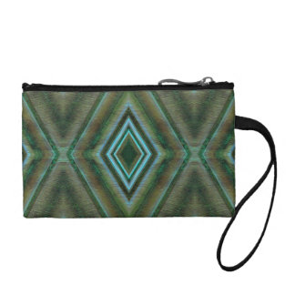 green turquoise diamond design coin wallets