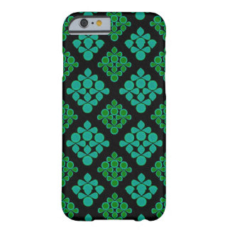 Green Turquoise Leaves Rhomb Pattern Barely There iPhone 6 Case