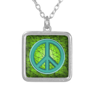 Green & Turquoise Peace Sign Necklaces