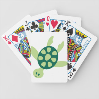 Green Turtle Swimming Bicycle Playing Cards