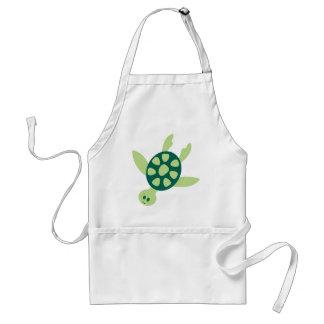Green Turtle Swimming Standard Apron