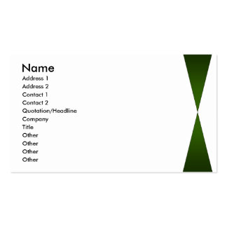 Green Twin Peaks Pack Of Standard Business Cards