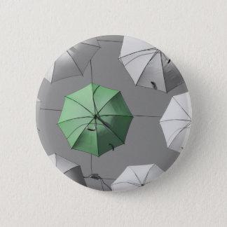 Green Umbrella Button Badge