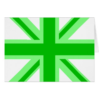 Green Union Jack Card