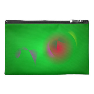 Green Universe and a Red sun Travel Accessories Bags