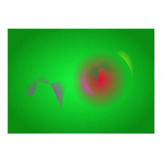 Green Universe and a Red sun Personalized Invitation