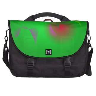 Green Universe and a Red sun Laptop Computer Bag