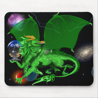 Green Universe Dragon_Mousepad Mouse Pad