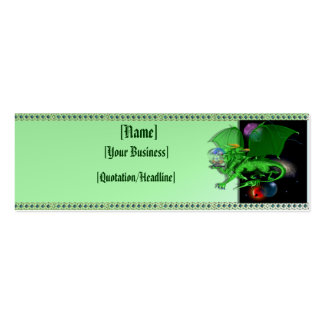 Green Universe Dragon profilecard_skinny_horizo... Pack Of Skinny Business Cards
