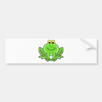 Green_Valentine_Frog_with_pink_hearts png Bumper Stickers