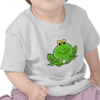 Green_Valentine_Frog_with_pink_hearts png T Shirt