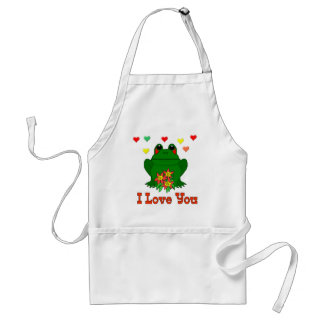 Green Valentine s Day Frog Apron