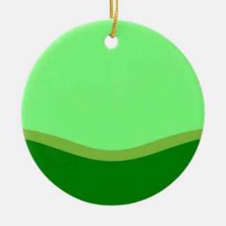 Green Valley Round Ceramic Decoration