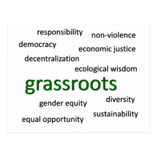 Green values & philosophy 1 postcard