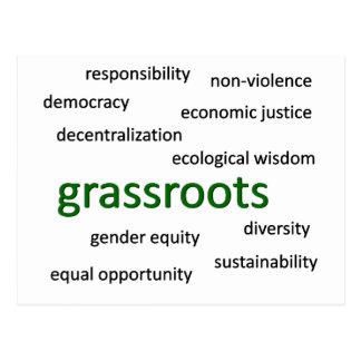 Green values & philosophy 1 postcard