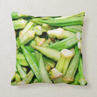 Green vegetables Okras pillow