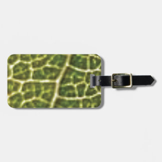 green veins or scales luggage tag
