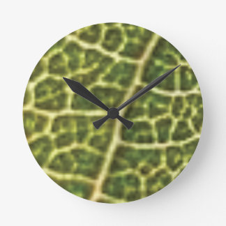 green veins or scales round clock
